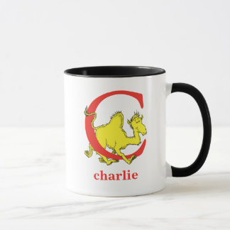 Dr. Seuss's ABC: Letter C - Red | Add Your Name Mug