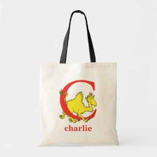 Dr. Seuss's ABC: Letter C - Red | Add Your Name Tote Bag