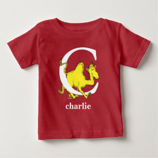 Dr. Seuss's ABC: Letter C - White | Add Your Name Baby T-Shirt