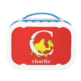 Dr. Seuss's ABC: Letter C - White   Add Your Name Lunch Box