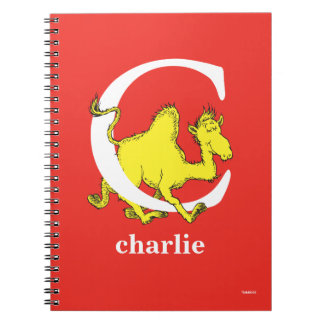 Dr. Seuss's ABC: Letter C - White | Add Your Name Spiral Notebook