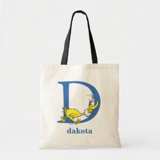 Dr. Seuss's ABC: Letter D - Blue | Add Your Name Tote Bag
