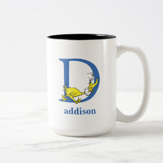 Dr. Seuss's ABC: Letter D - Blue | Add Your Name Two-Tone Coffee Mug