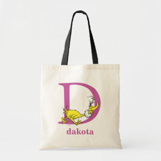 Dr. Seuss's ABC: Letter D - Purple | Add Your Name Tote Bag