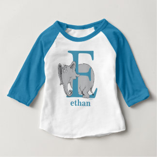 Dr. Seuss's ABC: Letter E - Blue | Add Your Name Baby T-Shirt