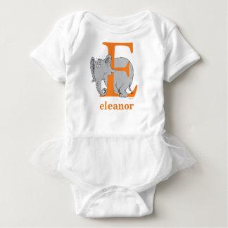 Dr. Seuss's ABC: Letter E - Orange | Add Your Name Baby Bodysuit