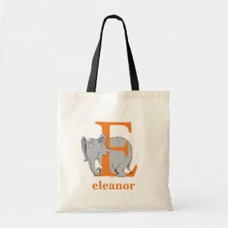 Dr. Seuss's ABC: Letter E - Orange | Add Your Name Tote Bag