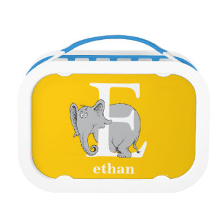 Dr. Seuss's ABC: Letter E - White   Add Your Name Lunch Box