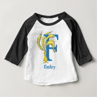 Dr. Seuss's ABC: Letter F - Blue   Add Your Name Baby T-Shirt
