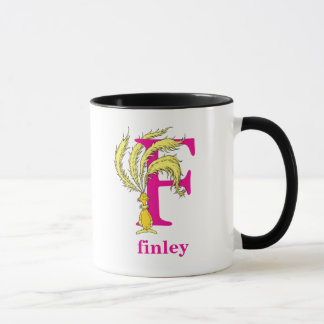 Dr. Seuss's ABC: Letter F - Pink | Add Your Name Mug