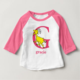 Dr. Seuss's ABC: Letter G - Pink | Add Your Name Baby T-Shirt