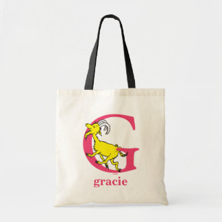 Dr. Seuss's ABC: Letter G - Pink | Add Your Name Tote Bag