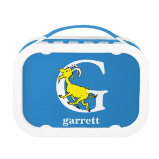 Dr. Seuss's ABC: Letter G - White   Add Your Name Lunch Box