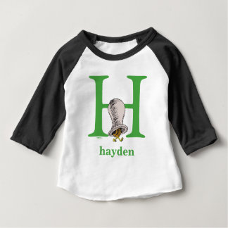 Dr. Seuss's ABC: Letter H - Green | Add Your Name Baby T-Shirt