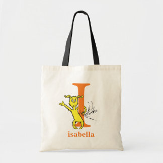Dr. Seuss's ABC: Letter I - Orange | Add Your Name Tote Bag