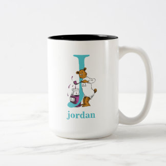 Dr. Seuss's ABC: Letter J - Teal | Add Your Name Two-Tone Coffee Mug