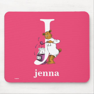 Dr. Seuss's ABC: Letter J - White | Add Your Name Mouse Pad
