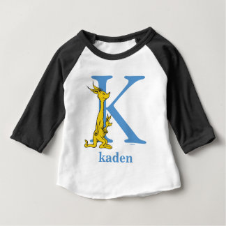 Dr. Seuss's ABC: Letter K - Blue | Add Your Name Baby T-Shirt