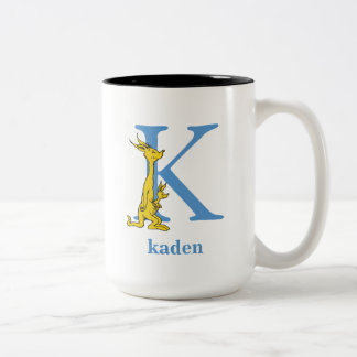 Dr. Seuss's ABC: Letter K - Blue | Add Your Name Two-Tone Coffee Mug
