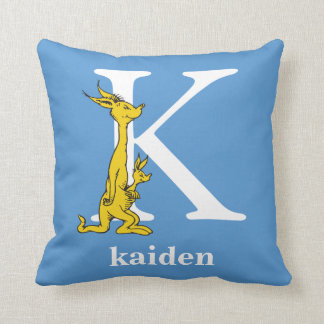 Dr. Seuss's ABC: Letter K - White | Add Your Name Cushion