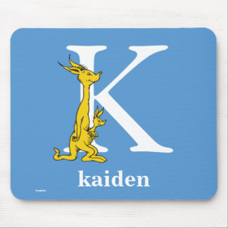 Dr. Seuss's ABC: Letter K - White | Add Your Name Mouse Pad