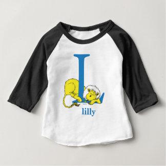 Dr. Seuss's ABC: Letter L - Blue   Add Your Name Baby T-Shirt