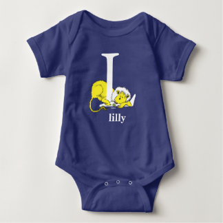 Dr. Seuss's ABC: Letter L - White | Add Your Name Baby Bodysuit