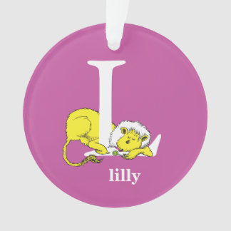 Dr. Seuss's ABC: Letter L - White | Add Your Name Ornament