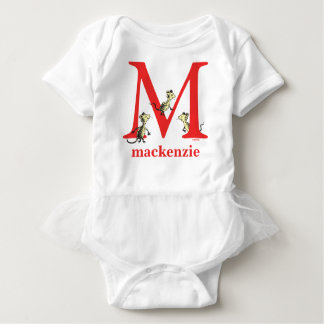 Dr. Seuss's ABC: Letter M - Red | Add Your Name Baby Bodysuit