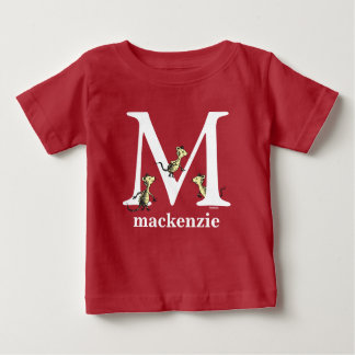 Dr. Seuss's ABC: Letter M - White | Add Your Name Baby T-Shirt