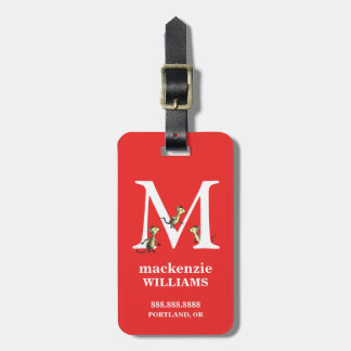Dr. Seuss's ABC: Letter M - White | Add Your Name Luggage Tag