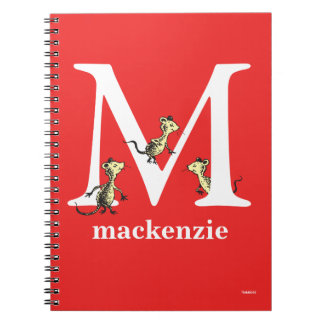 Dr. Seuss's ABC: Letter M - White | Add Your Name Spiral Notebook