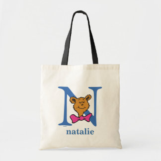 Dr. Seuss's ABC: Letter N - Blue | Add Your Name Tote Bag