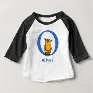 Dr. Seuss's ABC: Letter O - Blue | Add Your Name Baby T-Shirt