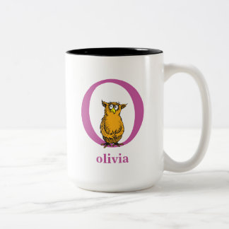 Dr. Seuss's ABC: Letter O - Purple | Add Your Name Two-Tone Coffee Mug