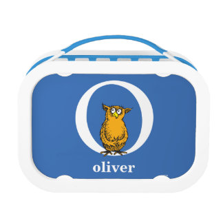 Dr. Seuss's ABC: Letter O - White   Add Your Name Lunch Box