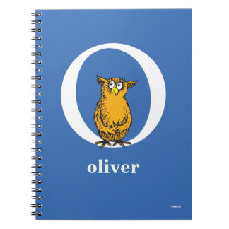 Dr. Seuss's ABC: Letter O - White | Add Your Name Spiral Notebook