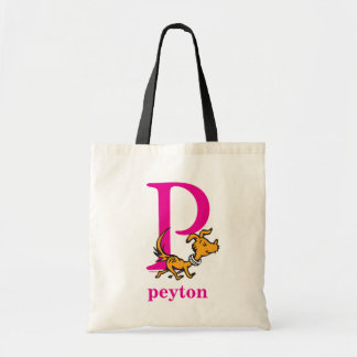 Dr. Seuss's ABC: Letter P - Pink | Add Your Name Tote Bag