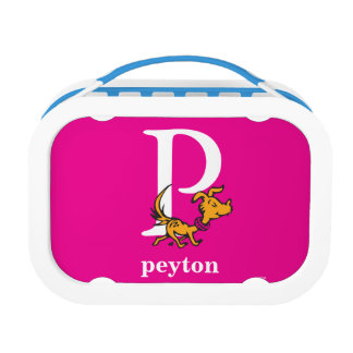 Dr. Seuss's ABC: Letter P - White   Add Your Name Lunch Box