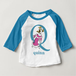 Dr. Seuss's ABC: Letter Q - Blue | Add Your Name Baby T-Shirt