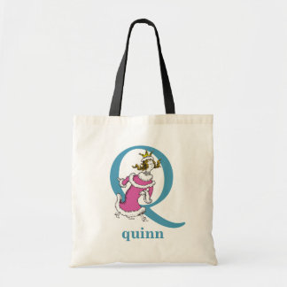 Dr. Seuss's ABC: Letter Q - Blue | Add Your Name Tote Bag