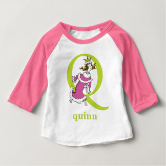 Dr. Seuss's ABC: Letter Q - Green | Add Your Name Baby T-Shirt