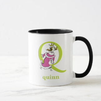 Dr. Seuss's ABC: Letter Q - Green | Add Your Name Mug