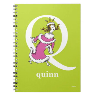 Dr. Seuss's ABC: Letter Q - White | Add Your Name Spiral Notebook