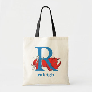 Dr. Seuss's ABC: Letter R - Blue | Add Your Name Tote Bag