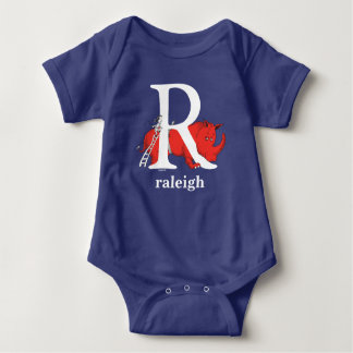 Dr. Seuss's ABC: Letter R - White | Add Your Name Baby Bodysuit
