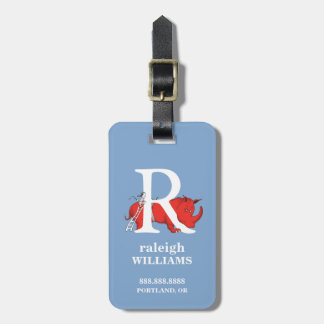 Dr. Seuss's ABC: Letter R - White | Add Your Name Luggage Tag