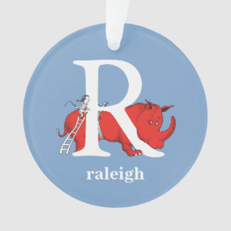 Dr. Seuss's ABC: Letter R - White | Add Your Name Ornament