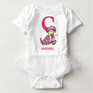Dr. Seuss's ABC: Letter S - Pink   Add Your Name Baby Bodysuit