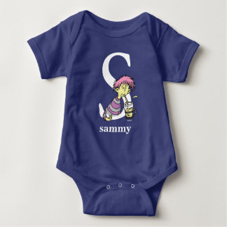Dr. Seuss's ABC: Letter S - White   Add Your Name Baby Bodysuit